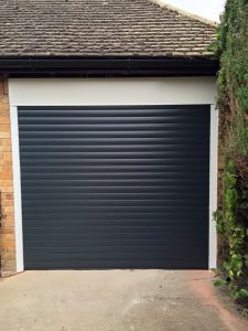 Seceuroglide Roller Garage Door in Anthracite fitted by Shutter Spec Security in Thame.