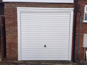 new up and over garage door Hormann 2000 fitted by Shutter Spec Security in Thame, Oxfordshire