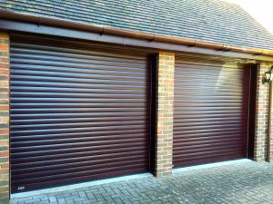 SecureoGlide roller garage doors fitted in Haddenham, Buckinghamshire by Shutter Spec Security