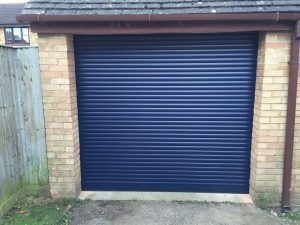 compact electric roller garage door fitted in thame, oxfordshire by Shutter Spec Security