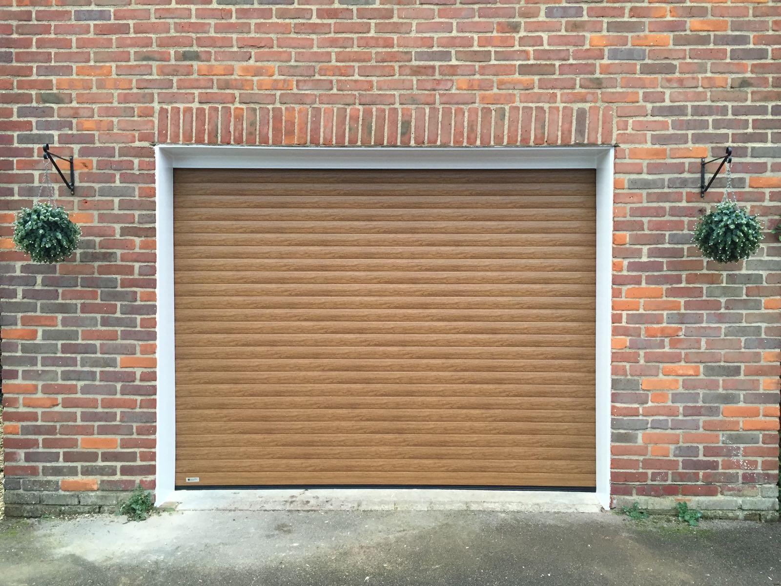 Light Oak Seceuroglide Roller Garage Door In Oakley