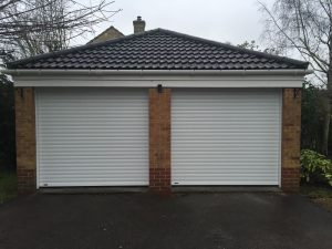 SeceuroGlide roller garage doors fitted in bicester by Shutter Spec Security.