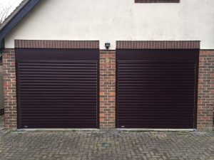 rosewood roller garage doors fitted in haddenham by Shutter Spec Security