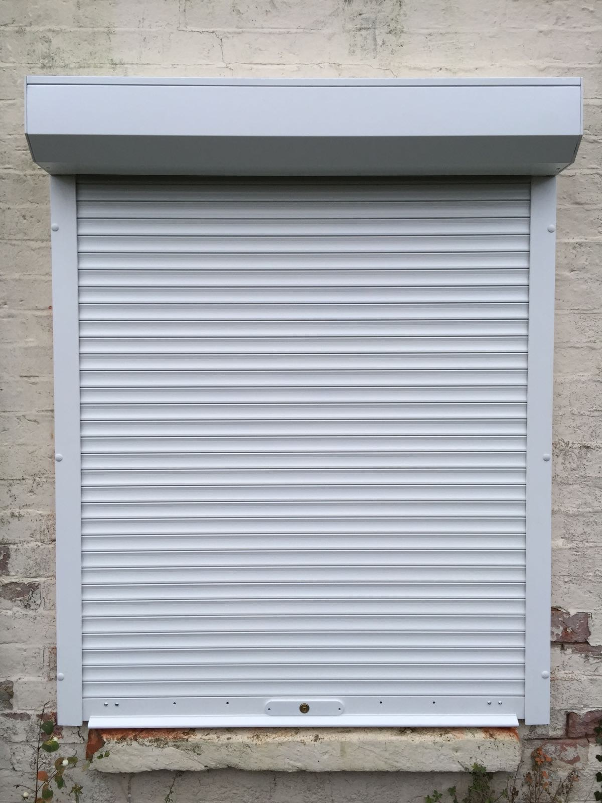 White Domestic Security Shutters Fitted In Oxford