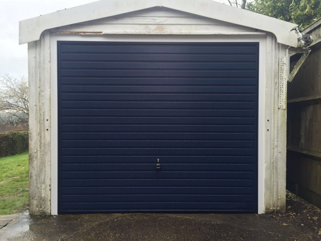 Garador Steel Up and Over Garage Door installed in Lacey Green, Buckinghamshire by Shutter Spec Security
