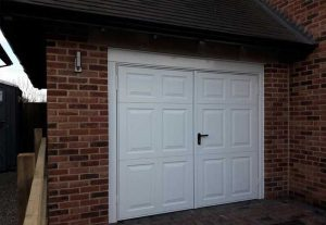 A Set of Garador Beaumont Side Hinged Garage Doors. Installed in Oxford.